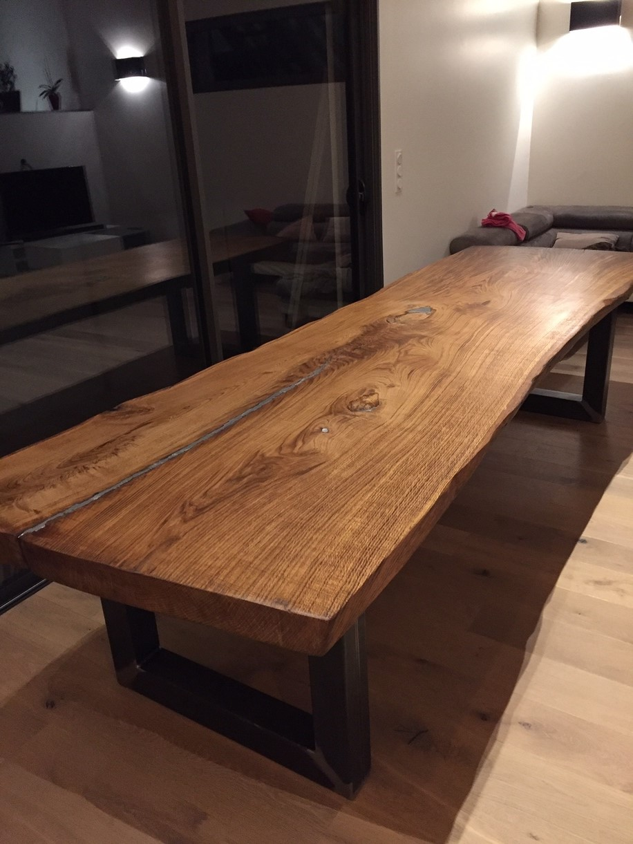 plateau de table en bois massif grande taille delta bois. Black Bedroom Furniture Sets. Home Design Ideas