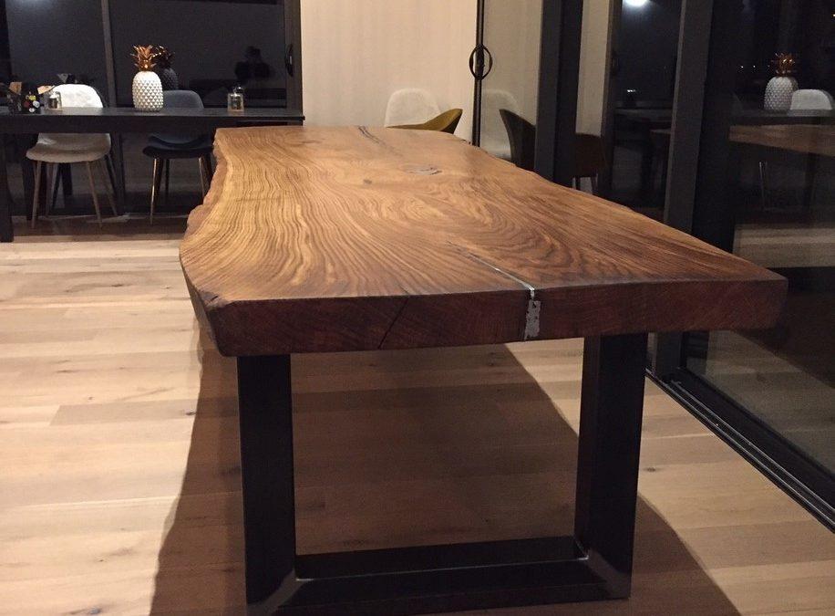 table plateau bois brut spartakiev. Black Bedroom Furniture Sets. Home Design Ideas