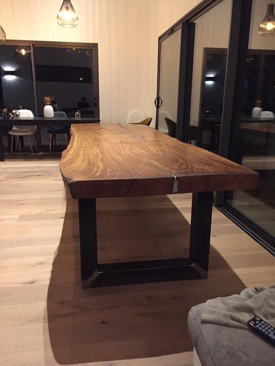 PLATEAU DE TABLE EN BOIS MASSIF GRANDE TAILLE