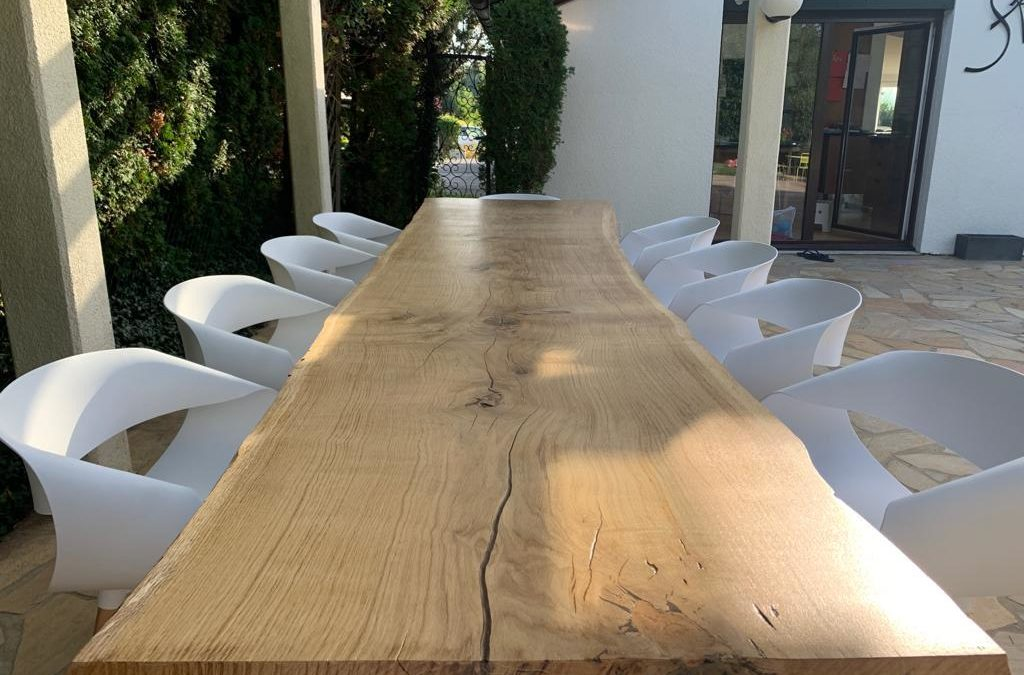 PLATEAU DE TABLE LIVE EDGE
