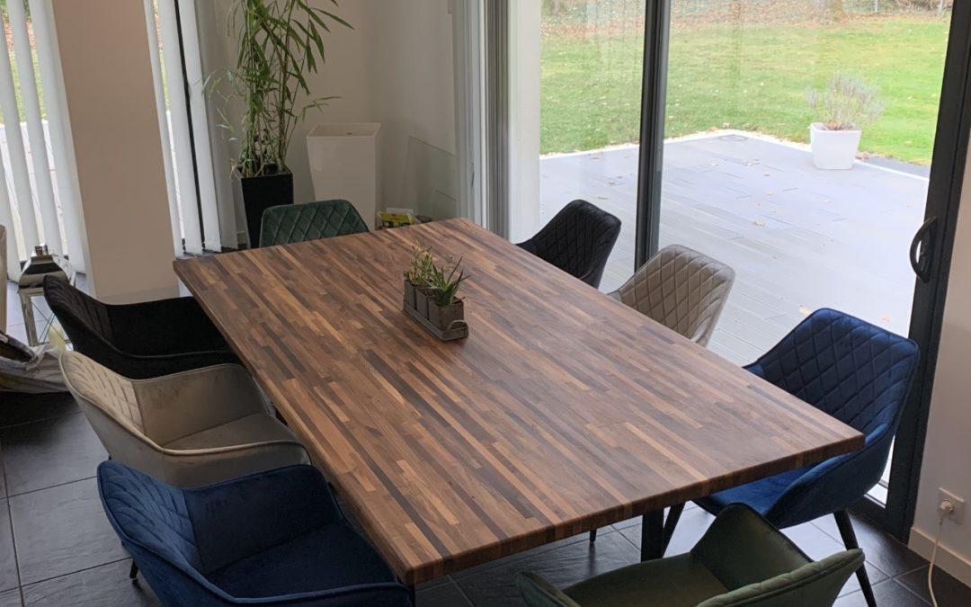 Table de salle à manger en Noyer Lamellé-collé