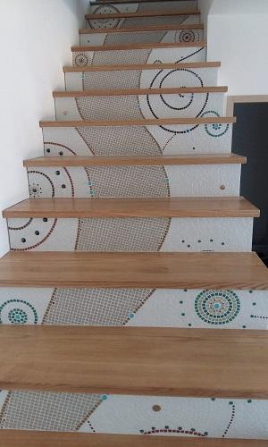 Marche d'Escalier en Frêne Massif
